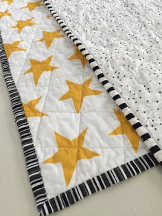 Organic Baby Quilt Star Pattern by littlecolleydesign on Etsy