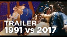 Beauty and the Beast Full Trailer - 1991 vs 2017 Comparison/Side by Side