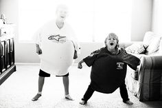Sumo Pillow Wrestling-  i did this all the time with my brothers(: