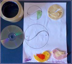Amarela Criativa ♥: Pap: Passarinhos de feltro
