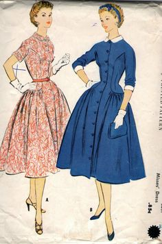 Vintage 1950s McCall's Sewing Pattern 3032 by SewAddicted2SewMuch