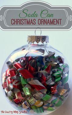 Soda Can Christmas Ornament thecraftyblogstalker.com