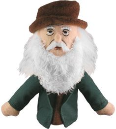 Leonardo da Vinci finger puppet/magnet - they also sell a variety of recognizable artists in finger puppet or doll format.