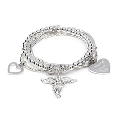 Stand out with this stunning Santi My Guardian Angel Bracelet, designed from 925 sterling silver & features ANNIE HAAK's signature charm, the My Guardian Angel http://www.anniehaakdesigns.co.uk/santi-my-guardian-angel-3-strand-bracelet