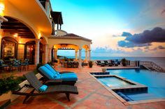 A dream vacation home: Villa Amarilla on the Caribbean Island of Anguilla.  There is a full service staff on-site, too!