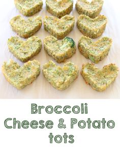 Healthy Baked Broccoli and Potato tots: cheesy enough to please your kids and loaded with veggies to please you too!