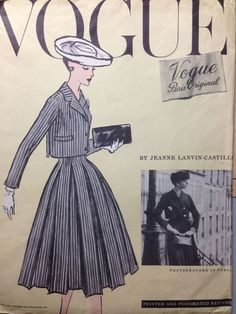 Understanding The Vintage Sewing Pattern - Sewing Method Vintage Outfits, Vintage Dresses, Vintage Fashion, 50s Dresses, 1940s Fashion, Ladies Fashion, Vintage Clothing, Fashion Art, Fashion Outfits