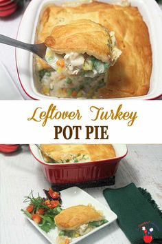 Leftover Turkey Pot Pie   2 Cookin Mamas Our single crust leftover turkey pot pie combines vegetables, leftover turkey, chicken broth, fat-free half & half & cheese for a delicious & healthier dinner option. Believe me, leftovers never tasted so good! #dinner #turkey #potpie #healthyeating #recipe