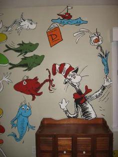 Dr Seuss Dr Suess Theme Wallpaper Wall Paper Art Sticker Mural - Dr seuss nursery wall decals