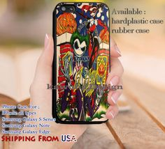 Couple Harley Quinn Batman iPhone 6s 6 6s  5c 5s Cases Samsung Galaxy s5 s6 Edge  NOTE 5 4 3 #cartoon #batman #superheroes dl13