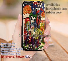 Couple Harley Quinn Batman iPhone 6s 6 6s  5c 5s Cases Samsung Galaxy s5 s6 Edge  NOTE 5 4 3 #cartoon #batman #superheroes dl13