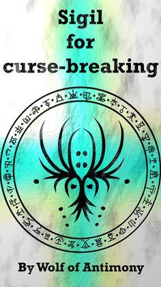 Sigil for curse-breaking Wiccan Symbols, Magic Symbols, Viking Symbols, Viking Runes, Ancient Symbols, Egyptian Symbols, Shaman Symbols, Sigil Magic, Magic Spells