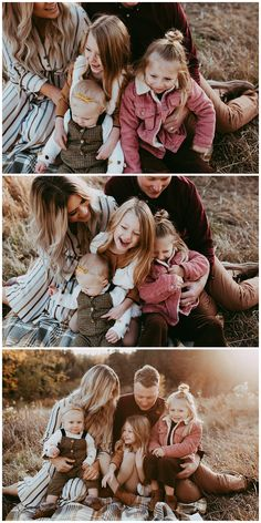 As an Edmonton family Photographer sunset would be my favourite time to shoot.This family of five made my life easy with their cute outfits and big smiles. Blended Family Photos, Casual Family Photos, Sunset Family Photos, Summer Family Pictures, Fall Family Photos, Adult Family Photos, Family Photos What To Wear, Large Family Poses, Family Picture Poses