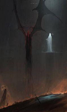 Kai Fine Art is an art website, shows painting and illustration works all over the world. Dark Fantasy Art, Fantasy Artwork, Dark Art, Monster Concept Art, Monster Art, Arte Horror, Horror Art, Fantasy Creatures, Mythical Creatures