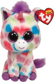 Buy TY Beanie Boo's - Wishful the Unicorn at Mighty Ape Australia. Wishful the Unicorn by TY is a soft & cute bee that is so easy to snuggle with! TY beanie babies are bean filled and fun to collect! Wishful the U. Ty Beanie Boos, Ty Boos, Big Eyed Stuffed Animals, Unicorn Stuffed Animal, Creepy Stuffed Animals, Ty Peluche, Rare Beanie Babies, Beenie Babies, Ty Babies