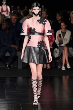 Alexander McQueen Spring 2015. See all the best Paris Fashion Week looks here.