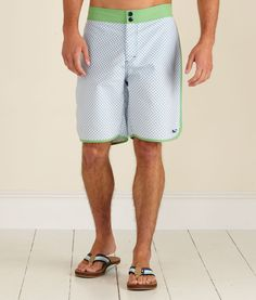 Piped Gingham Board Shorts