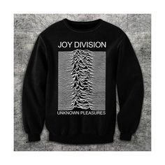 6041 UNKNOWN PLEASURES JOY DiVISION SWEATSHiRT grunge ian curtis rock... (£23) ❤ liked on Polyvore featuring tops, hoodies, sweatshirts, sweaters, punk sweatshirts, punk tops, unisex tops, rock tops and black top