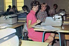 Typing class....I  remember this...