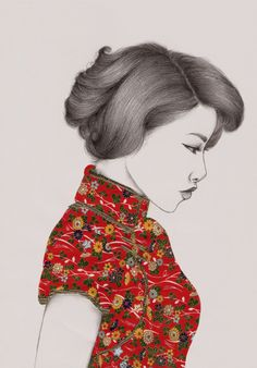 'Paper Doll' by Peony Yip, via @Behance #illustration #Japanese
