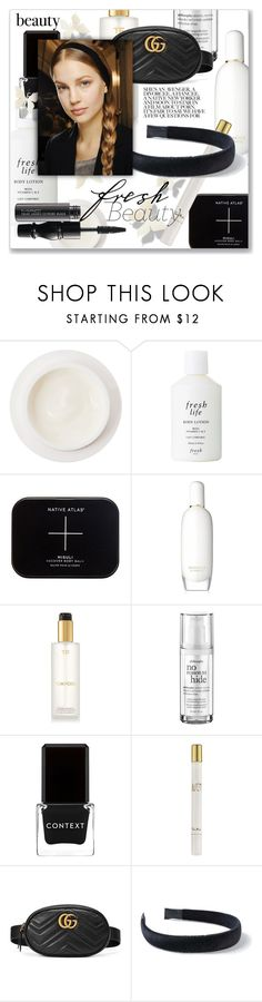 """Fresh Beauty"" by jzanzig ❤ liked on Polyvore featuring beauty, Dermarché Labs, Fresh, Clinique, Tom Ford, philosophy, Context, Thierry Mugler, Gucci and Miss Selfridge"