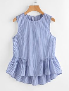 SheIn offers Buttoned Keyhole Tiered Hem Gingham Shell Top & more to fit your fashionable needs. Dresses Kids Girl, Girl Outfits, Cute Outfits, Blouse Styles, Blouse Designs, Baby Dress Design, Peplum Blouse, Kids Fashion, Fashion Dresses
