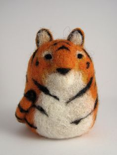 Needle Felted Tiger. $40.00, via Etsy.