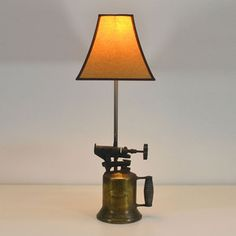 Antique Brass Blow Torch lamp by Awesome Zone 5000