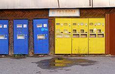 Soviet style soda water machines in Tiraspol, Transnistria exclave, Moldova