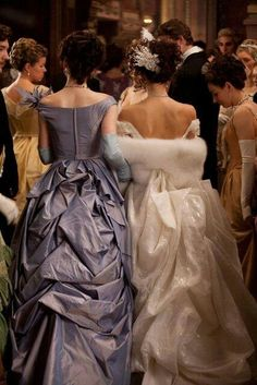 """Anna Karenina"" (2012) - Kiera Knightley and Michelle Dockers, stunning from all angles.  Costume designer : Jacqueline Durran."