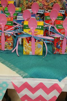 Pajama party.  SUCH cute IDEAS!