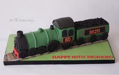 Steam Engine - Cake by The Custom Cakery - CakesDecor 4th Birthday Cakes, Trains Birthday Party, Train Party, Birthday Ideas, Tank Cake, Truck Cakes, Buffet, Fancy Cookies, Cakes For Men