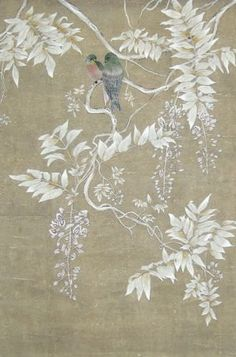 Handmade patterned wallpaper WISTERIA WV-100 Paul Montgomery Studio