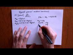 Výpočet pomocí molární hmotnosti - YouTube