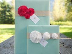 Pretty Fabric Flower Gift Embellishments