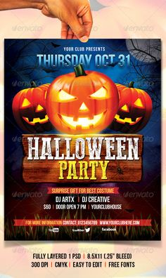 Halloween Flyer Template PSD #design Download: http://graphicriver.net/item/halloween-flyer/5403284?ref=ksioks