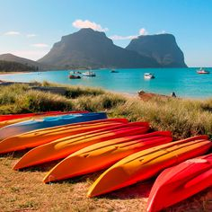 kayak on the lagoon on #lordhoweisland