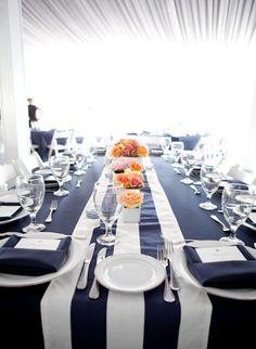 Décoration de table thème marin