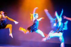 Choreographed jumping.
