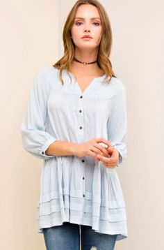 Light Blue Haze Top - Wolf + Gypsy Boutique Clothing f084eee8c
