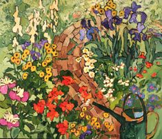 1996 Garden Path New York Museums, Simple Oil Painting, Garden Painting, Canadian Painters, Canadian Artists, Museum Of Fine Arts, Art Museum, Flower Paintings, Impressionism