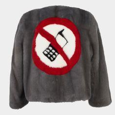 No Phones short fur jacket
