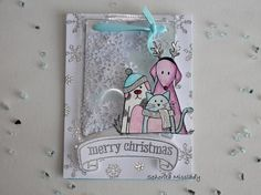 "#8. Scrap & Manualidades. ""Merry christmas"" shaker card."