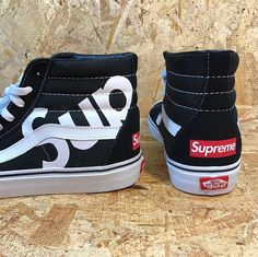 UNISEX CUSTOM Vans Supreme Sk8 Hi They Are Made To Order So Please Allow Ample Processing Time I Will Get Them Out As Quickly Possible Thank