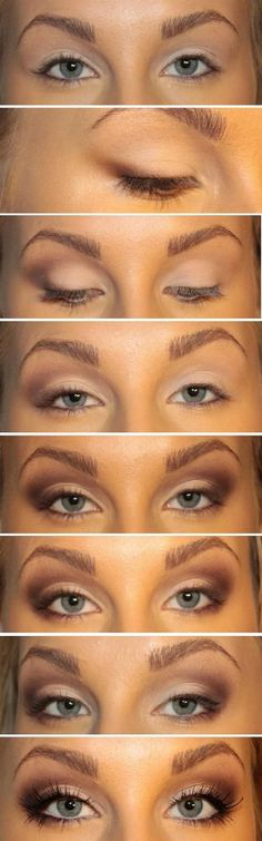 Top 10 Fall Brown Smoky Eye Tutorials - Top Inspired Bigger Eyes Makeup Tutorial - 10 Brown Eyeshadow Tutorials for Seductive Eyes Brown Eyeshadow Tutorial, Smoky Eye Tutorial, Eyeshadow Tutorials, Makeup Tutorials, Prom Makeup Tutorial, Eyeliner Tutorial, Art Tutorials, Kiss Makeup, Love Makeup
