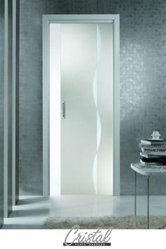 porte vetro cristallo extrachiaro su sistema scrigno essential ... - Porte In Vetro Decorate Moderne