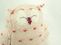 SALE Owl Ornament Felted Wool Eco Friendly Home by ForMyDarling, $25.00