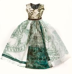 paper dress idea - would be beautiful framed over french script paper