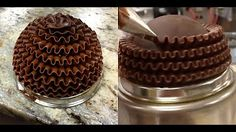 HOT CAKE TRENDS 2016 Marble Cake with Wafer Paper Flower - How to make by Olga Zaytseva - YouTube