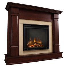 Features:  -This fireplace is 4700 BTU's, so it will successfully heat a room that is 12' x 12'. It isn't designed to provide heat to an entire house..  -Fireplace features an adjustable simulated fli